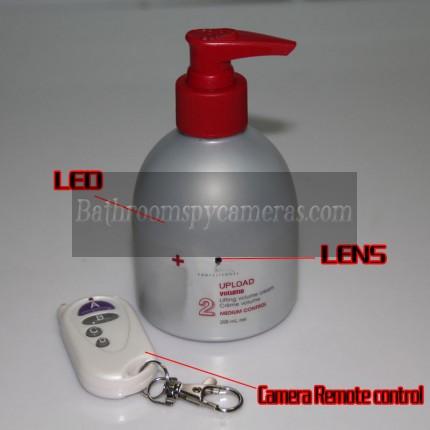 Shampoo Bottle Hidden Camera 720P HD DVR Waterproof Pinhole Spy Camera 16GB Internal Memory