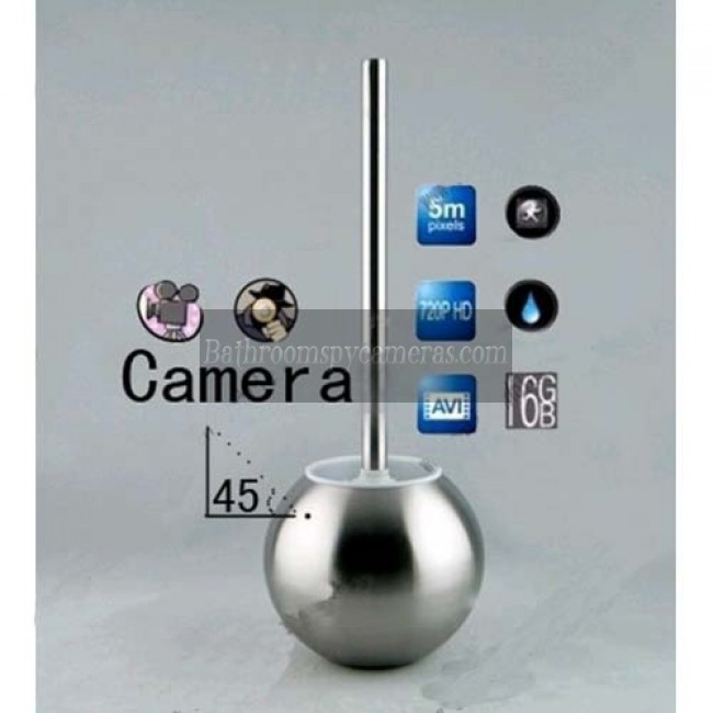 Toilet Brush Spy Splash 1080P HD Bathroom Hidden Camera Motion Actived DVR 32GB (camera lens 45 degree up)