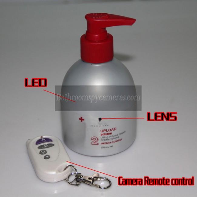 浴室シャンプー小型隠しカメラ720P DVR 16G HD 動作感知 最高な 隠しカメラ