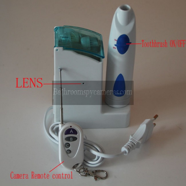 Buy Electric Toothbrush Features Hidden Spy Pinhole Waterproof Bathroom Camera 1080P 32GB DVR at Toothbrush Spy Camera,Bathroom Spy Camera professional shop