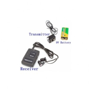 hidden camera - Long Distance Wireless Audio Spy Transmitter Device With Replaceable Battery Design