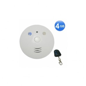 hidden cam - Smoke Detector Style Spy Camera with Remote Control 2.0M Camera 30FPS Video Resolution 4G Memory